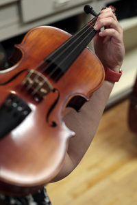 Up Close of Violin Finger Placement